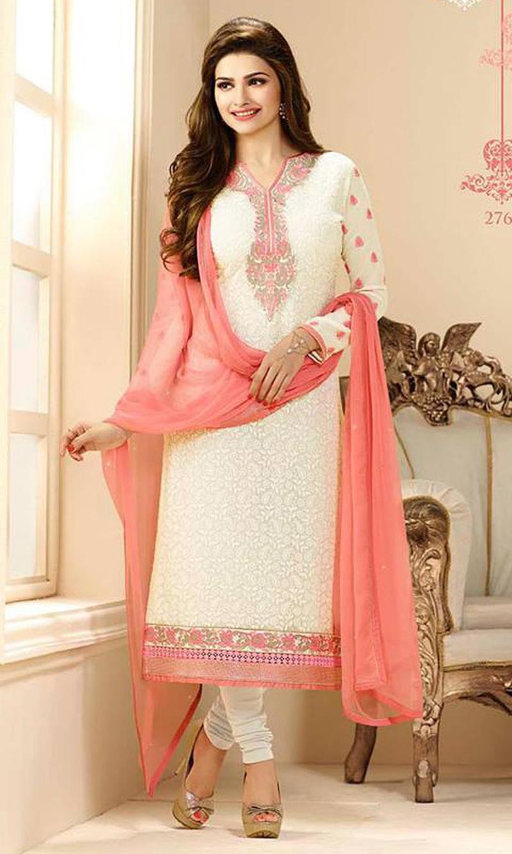 11c752e8c3 Buy Prachi Desai Cream Party Wear Suit (Prachi 9 - 2767) by Vinay ...