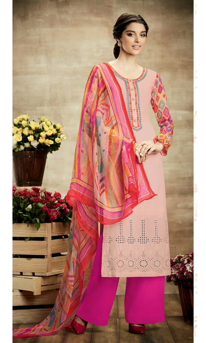 2130ebb6234 Buy Pink Attire Pure Soft Cotton Palazzo Suit (Sohni - 106) by ...