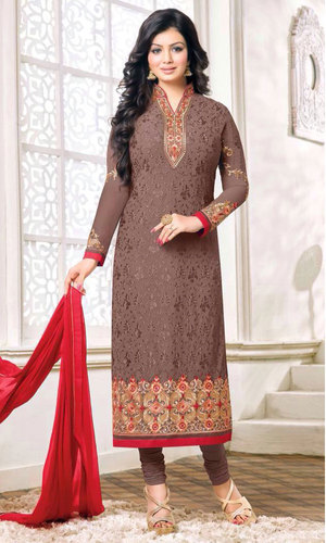 Ayesha Takia Rosy Brown Georgette Suit (Zisa 26 - 7227)