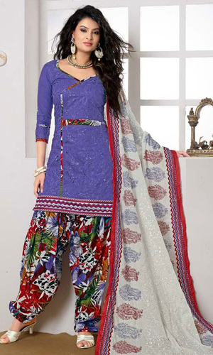Sayali Bhagat Lavender Cotton Suit with Dupatta Work (Sayali 10003)