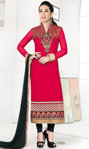 Karisma Kapoor Red Georgette Suit