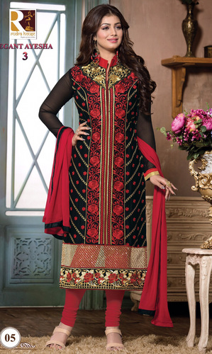 Ayesha Takia Black Embroidered Cotton Suit