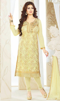 Ayesha Takia Cream Georgette Suit (5 Star - 984)