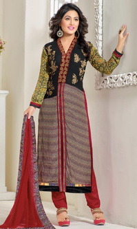 Hina Khan Printed Georgette Satin Suit (Heenari 5 - 81000)