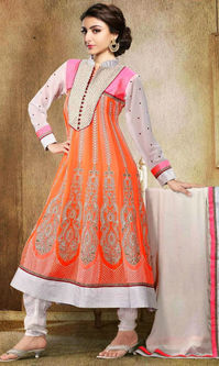 Soha Ali Khan Pink & Orange Anarkali Suit (Queen - 172)