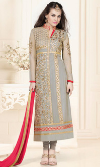 Light Grey Georgette Suit (Sanja - 6117)